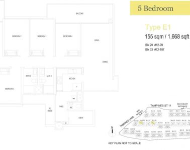 treasure-at-tampines-floor-plan-5-bedroom-type-E1