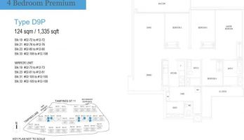 treasure at tampines floor plan 4 bedrooms premium