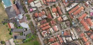 The District 15 site currently houses a three-storey development that features 10 terrace homes and a bungalow that was completed 25 years ago. Image: Google Maps